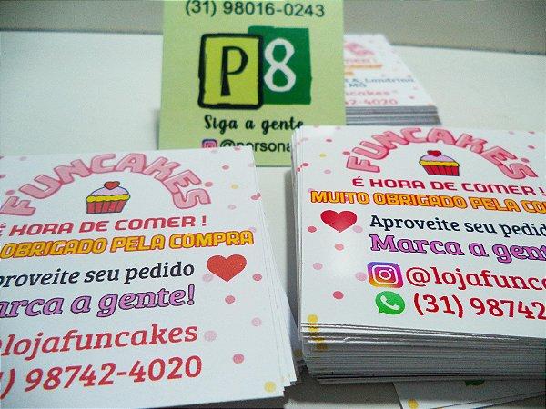 Cartão de agradecimento / cartão de visita / 100 PEÇAS