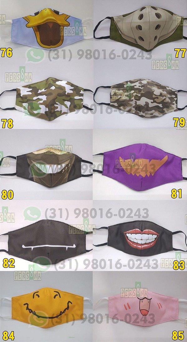 Kit com 5 Máscaras protetoras faciais