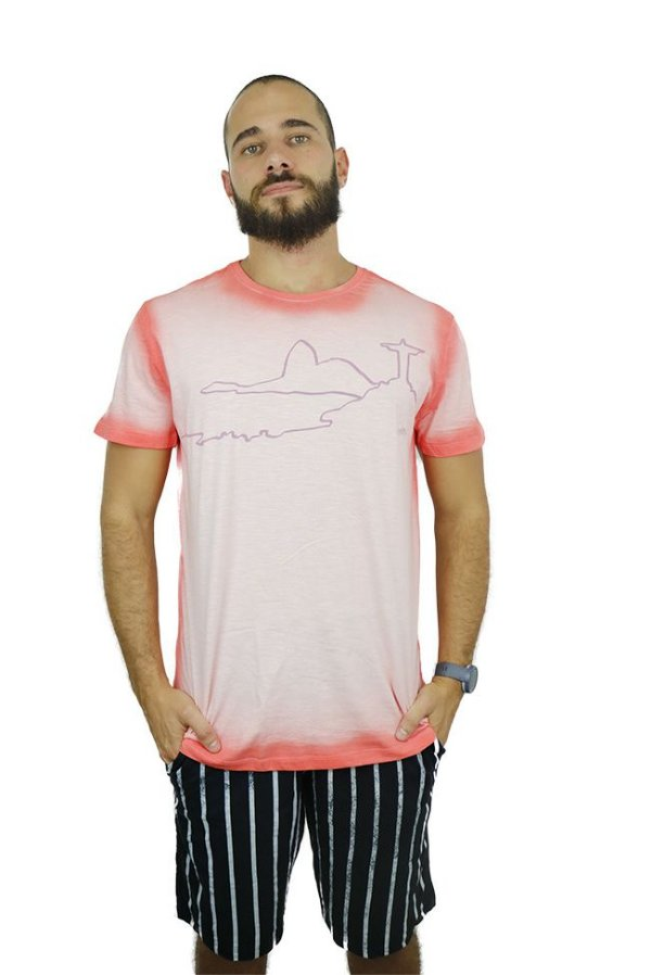 T-Shirt Corcovado Laranja