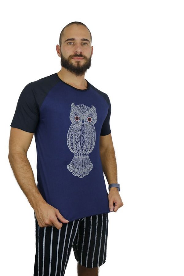 T-Shirt Owl Blue