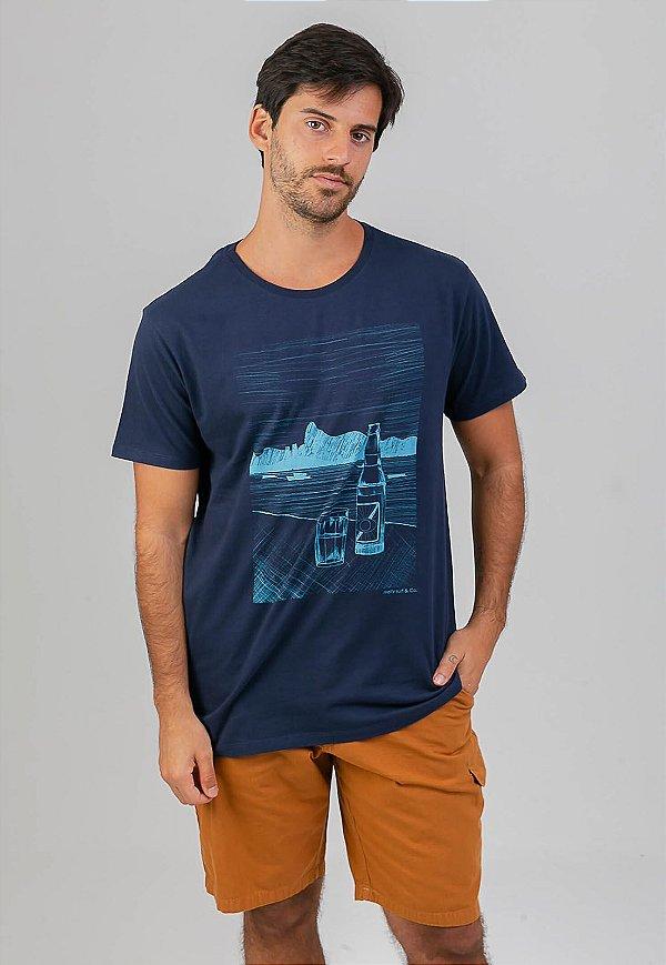 T-Shirt Rio lines Marinho
