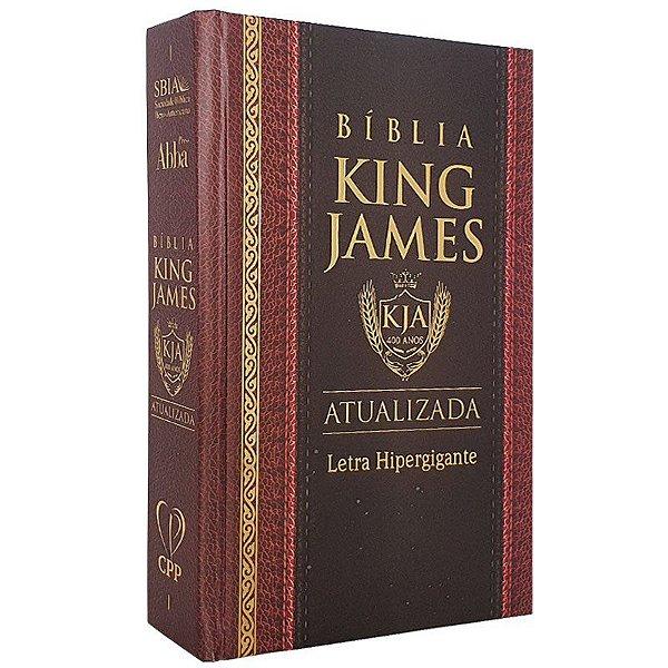 Bíblia King James Capa Dura Versão Atuali Letra Hipergigante