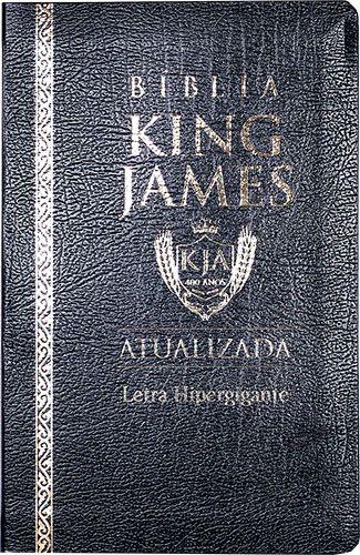 Bíblia King James Luxo Coverbook Versão Atualiz Hipergigante Preta