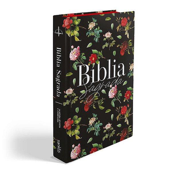 Bíblia ARC 860 Rosas do Campo Normal Almeida Revista e Corrigida