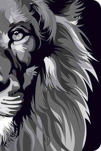 Bíblia NVT 960 Lion Colors Black & White - Letra Normal Nova Versão Transformadora