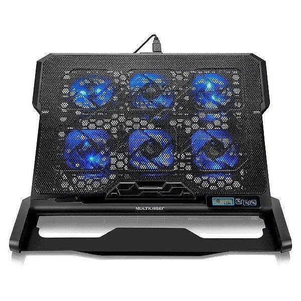 Cooler para Notebook com 6 Cooler Led USB Multilaser AC282