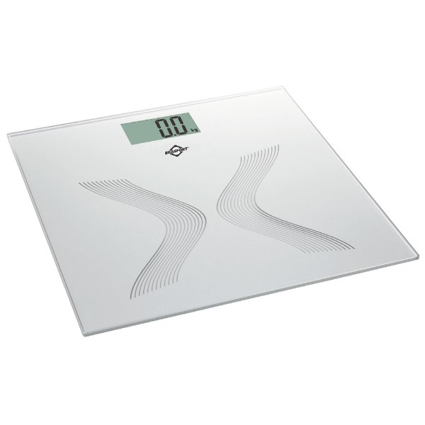 Balança de Banheiro Digital 150Kg Cinza BRASFORT