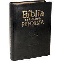 Bíblia de Estudo da Reforma com índice Capa preta (ARA)