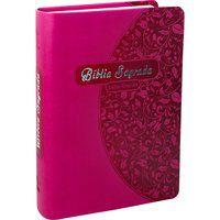 Bíblia Sagrada Letra Grande Couro Pink Linguagem Hoje NTLH