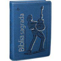 Bíblia Sagrada Edição Notas para Jovens Couro Azul (NTLH)