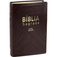 Bíblia Sagrada Letra Grande com índice Capa Marrom (NAA)