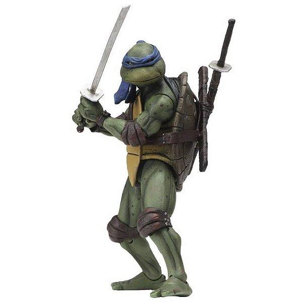 "Leonardo - Tartarugas Ninja 7"" Figure (1990 Movie) - Neca"