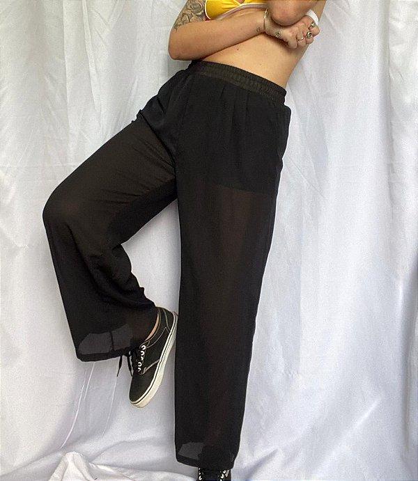 Calça Pantalona Preta (36/38)