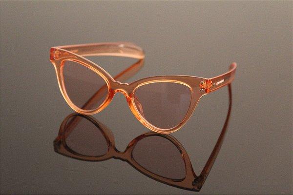 Óculos gatinho laranja