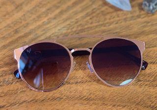 Óculos marrom degradê