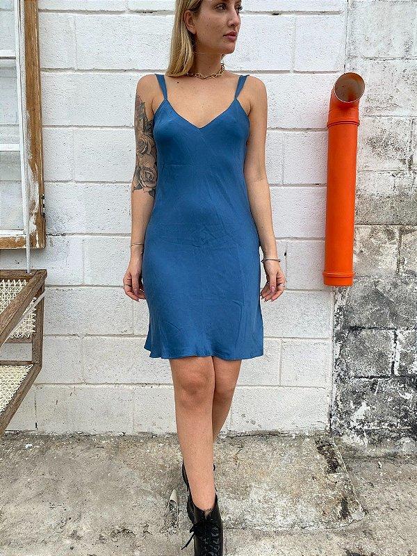 Slip dress azul