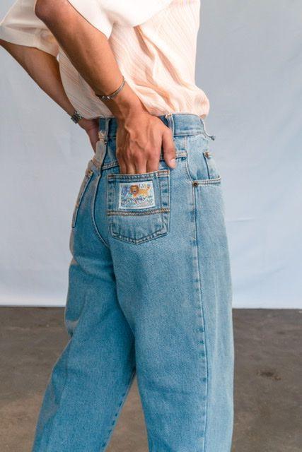 MOM jeans Indigo Blue