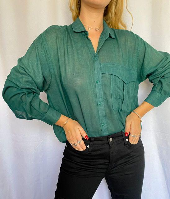 Camisa Verde Puro Linho