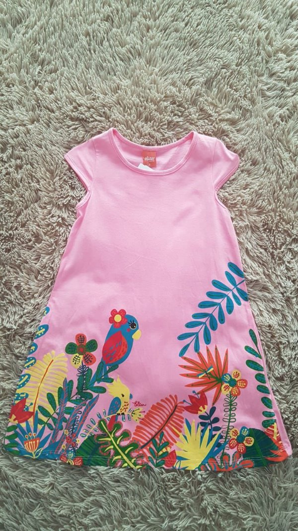 231004  Tm 6 vestido infantil  Rosa