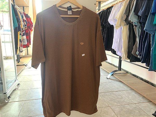 Camiseta masculina marrom XGG