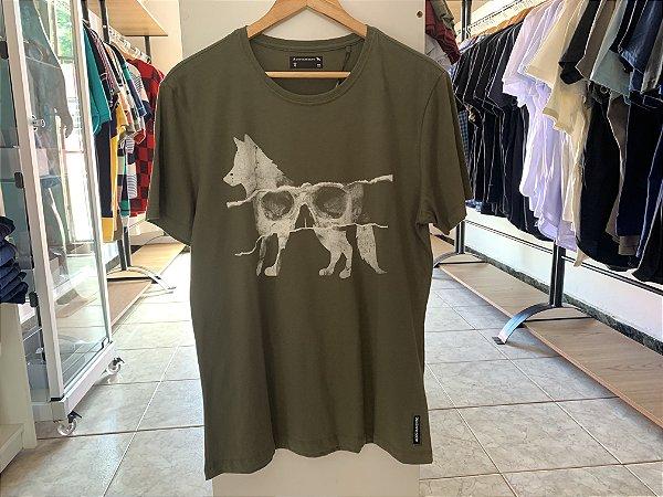 Camiseta masculina acostamento verde escuro G
