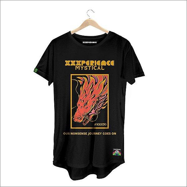 Camiseta XXXPERIENCE Dragon Mystical - Preta