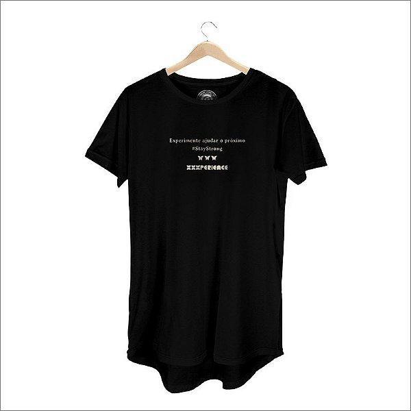 Camiseta XXXPERIENCE Social Long Line - Preta
