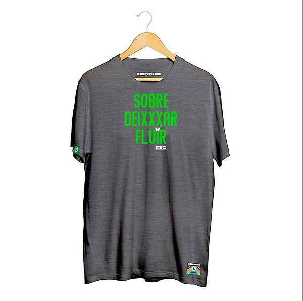 Camiseta XXXPERIENCE Fluir - Mescla Preta