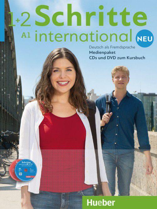 Schritte International Neu 1+2 Medienpaket - (SOMENTE AUDIO-CDs e DVD DO PROFESSOR)