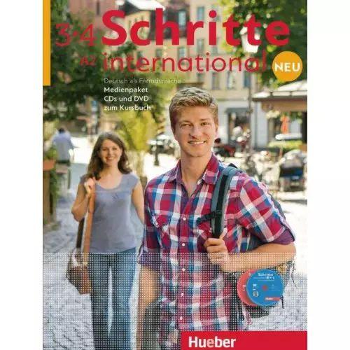 Schritte International Neu 3+4 Medienpaket - (SOMENTE AUDIO-CDs e DVD DO PROFESSOR)