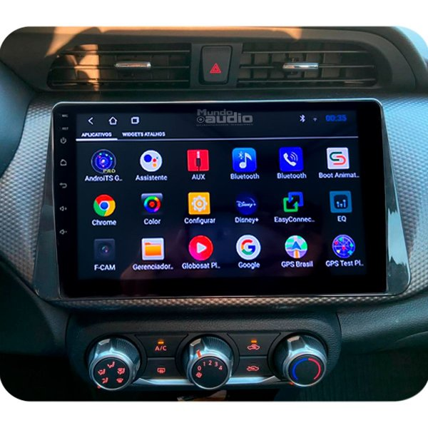 "Central Multimídia Kronos Tela 10"" Polegadas Kicks 2016 A 2020 Gps Tv Android"