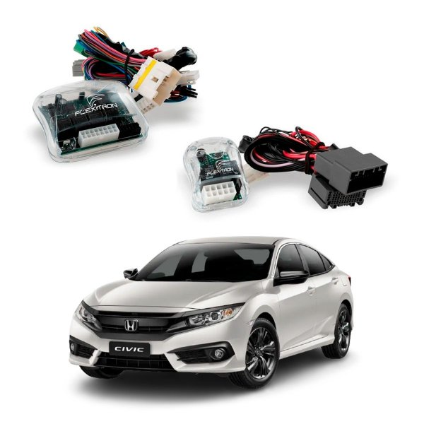 Módulo Vidro + Rebatimento Retrovisor + Tilt Down Civic G10 - KIT HN-CV 4.3