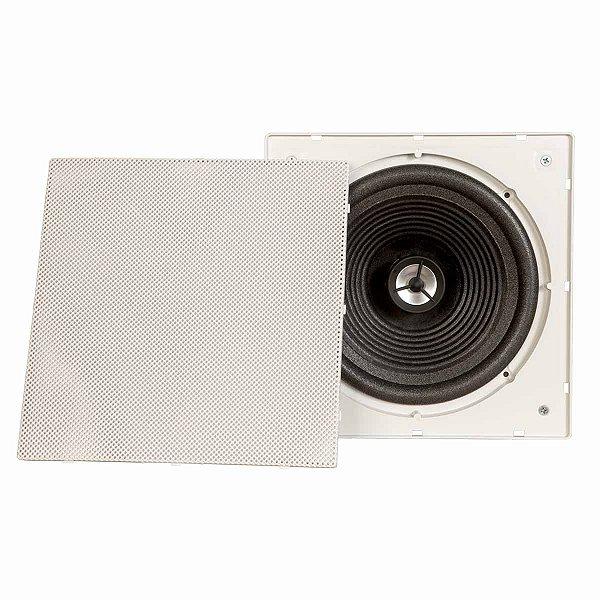 Arandela Quadrada Som Ambiente Branca 200w S/Borda Falante 8
