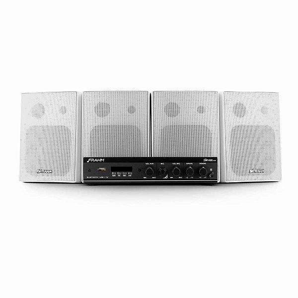 Kit Som Ambiente Amplificador + 4 Caixas de Parede PS 200