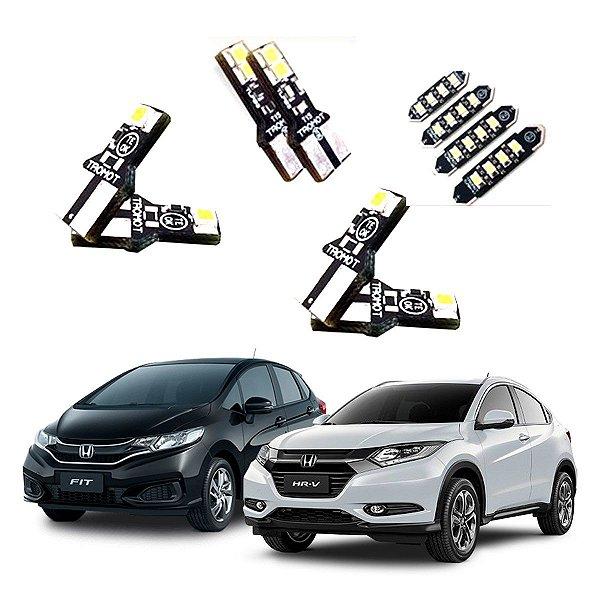 Kit Lâmpada Led int e ext Honda Hrv Pcd 15 A 18 E Fit 2020