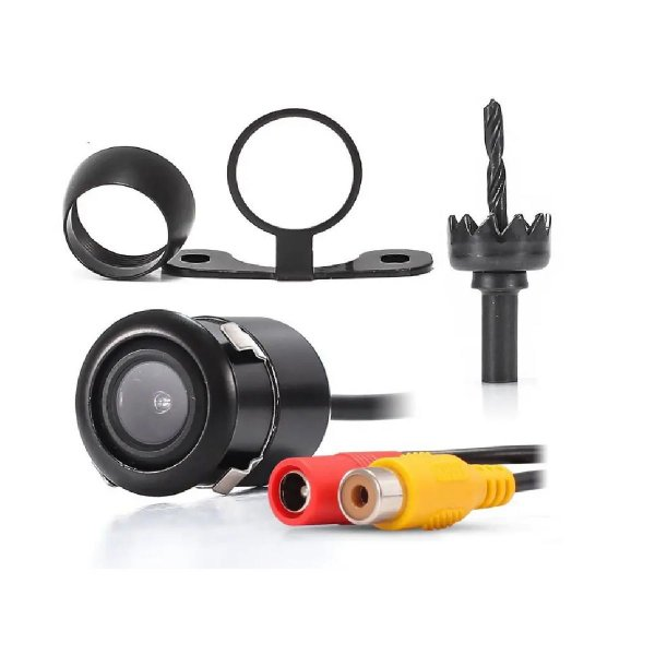 Mini Câmera de Ré Embutir e Tipo Borboleta Opção Para Dianteira