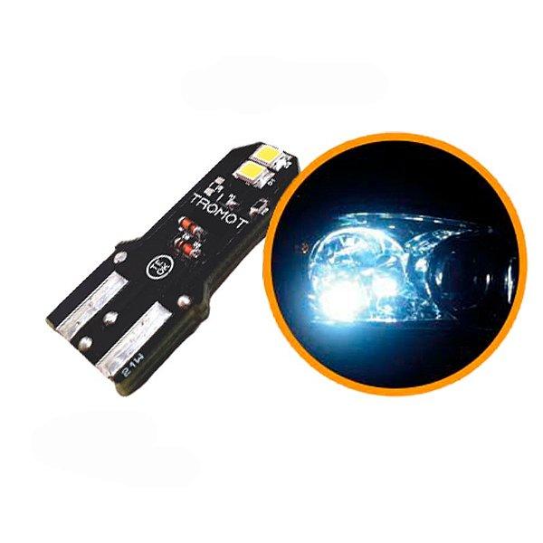 LED T20 1 POLO  LAMP SUPER BRANCA ESMAGADA TROMOT 6000K 12V (PAR)