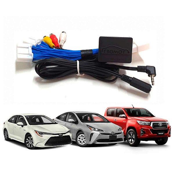 Desbloqueio Toyota Entrada AV e Tv Pelo Volante Plug Play Corolla Hilux Prius 2020 TTT01
