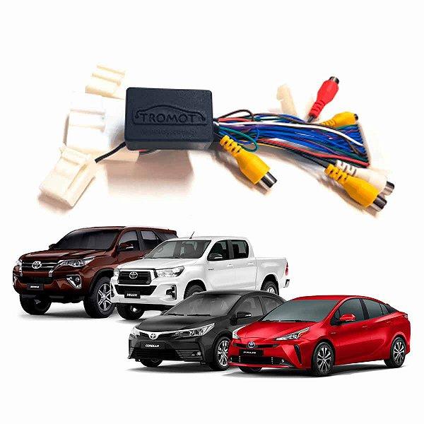 Desbloqueio Toyota Corolla Hilux Prius Yaris Entrada A/v e Camera Frontal Plug Play TAT03