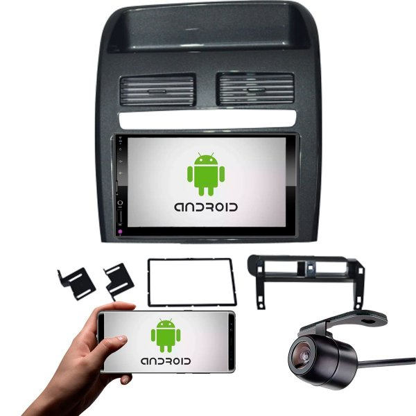 Central Multimídia Fiat Linea 2008 a 2014 Grafite Com Sistema Android