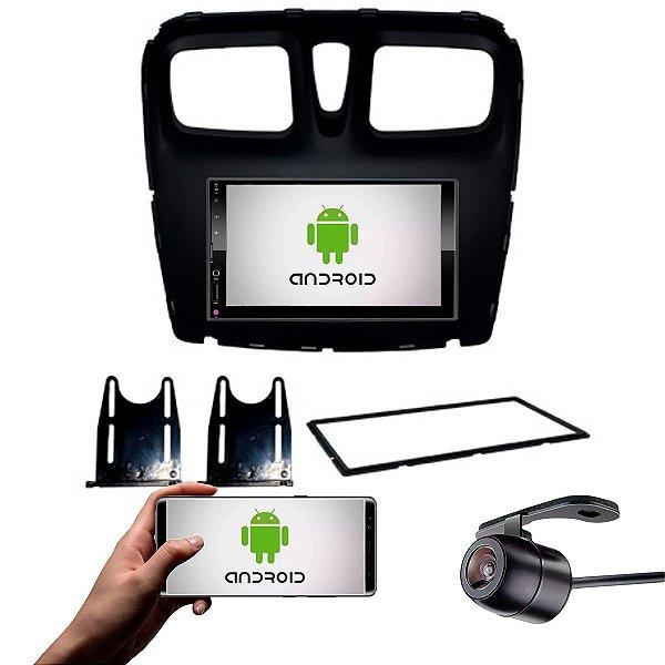 Central Multimídia Sandero 2015 a 2021 Preto Fosco Com Sistema Android