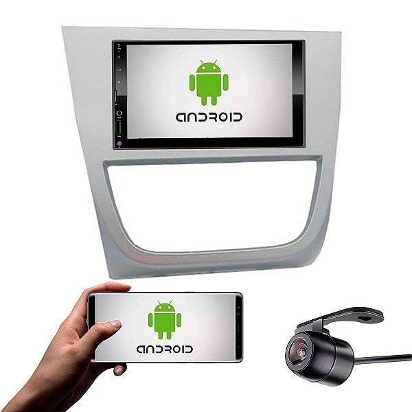 Central Multimídia Saveiro Cross G5 2010 a 2013 Prata Com Sistema Android