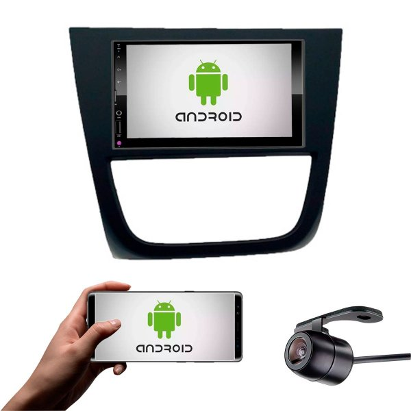 Central Multimídia Saveiro Cross G5 2010 a 2013 Preto Com Sistema Android