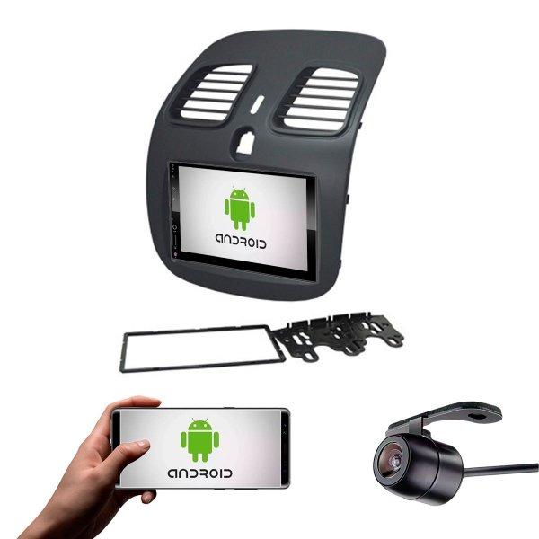 Central Multimídia Grand Siena 2014 a 2021 Preto Fosco Sistema Android