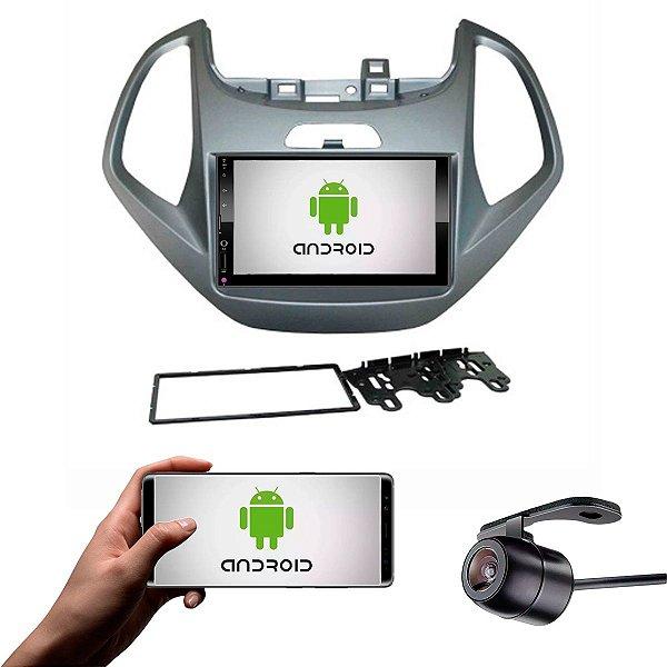 Central Multimídia Ford Ka 2014 a 2017 Cinza Sistema Android