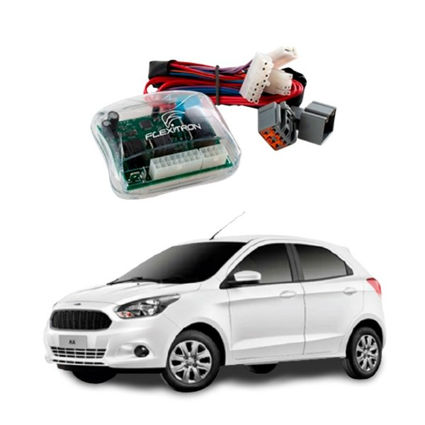 Módulo de Vidro Central Ford Ka 2015 a 2019 4 Vidros Plug Play