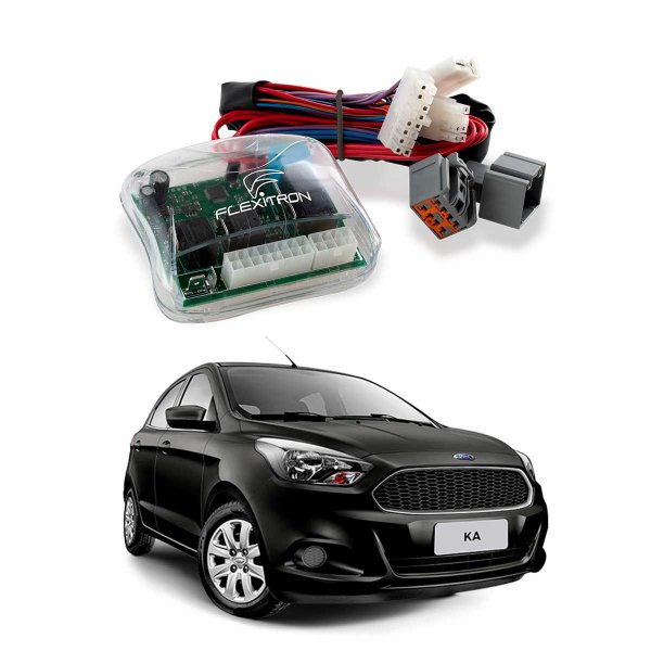 Módulo de Vidro Central Ford Ka 2015 a 2019 2 Vidros Plug Play - SAFE FD-KA 2.0