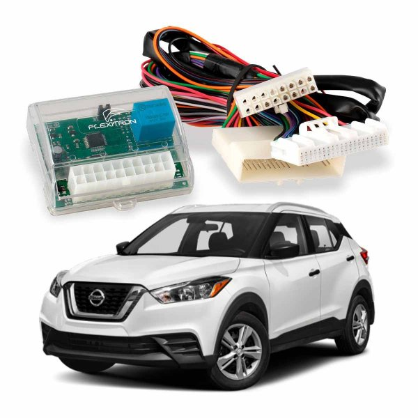 Módulo de Vidro Central Nissan Kicks SL SV 2017 a 2020 Plug Play - SAFE NS-KK 4.0