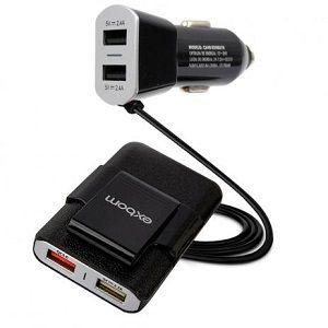 Carregador Celular Carro Veicular Exbom Com 4 Entradas USB