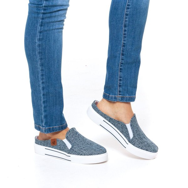 Slip On Mule Feminino Jeans